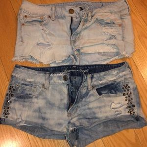 American eagle denim shorts size 6 and 8